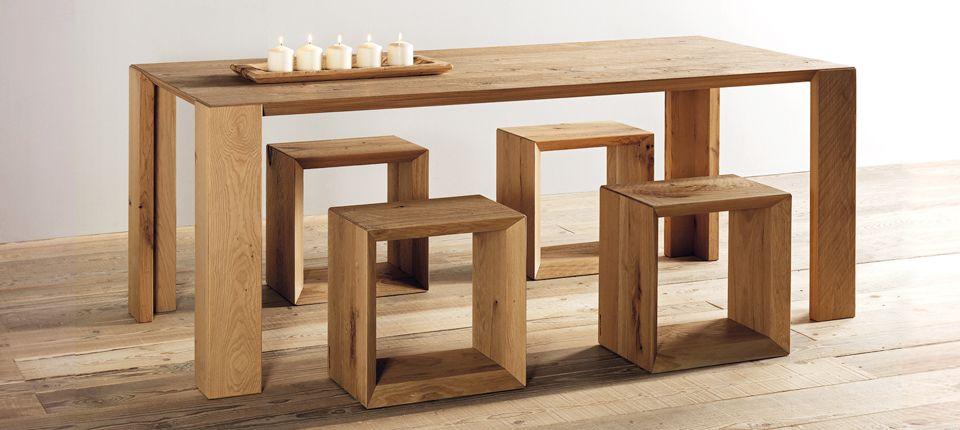 Tavolo in legno bordo a 45 gradi Coffee table, Bar table