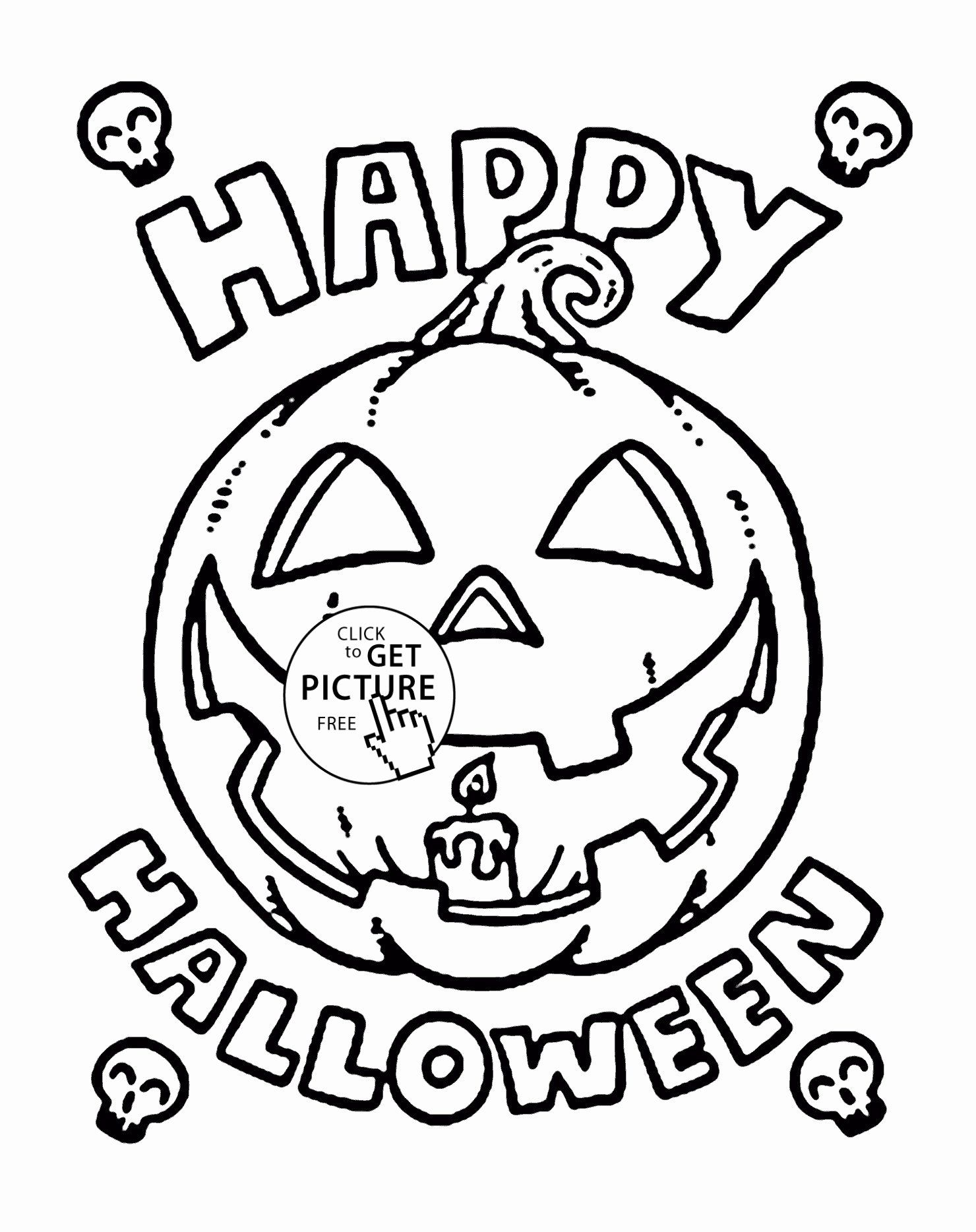 Halloween Pumpkin Coloring Pages Printables