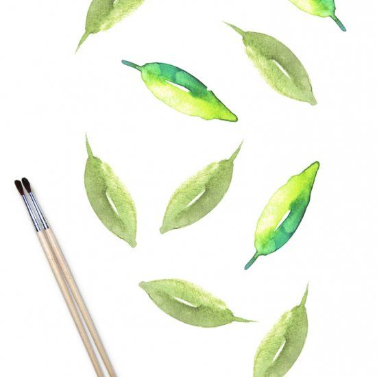 Easy Watercolor Painting Leaves Tutorial Art How To Beginner