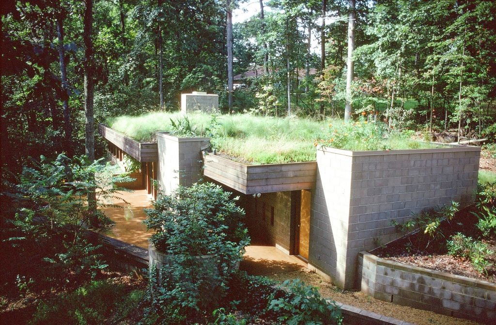 Modern earth sheltered homes modern earth roof and berm for Berm home