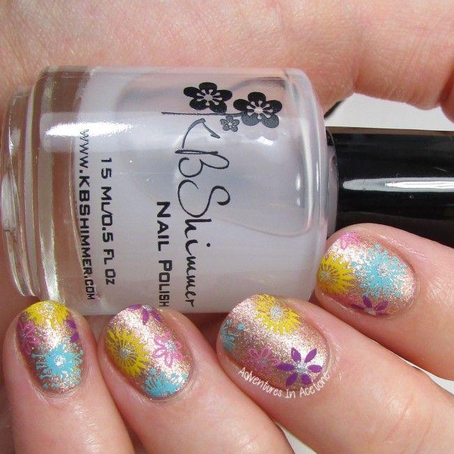 Floral metallic matte nail art 2-001 | Nail Art, Tools and Tips ...