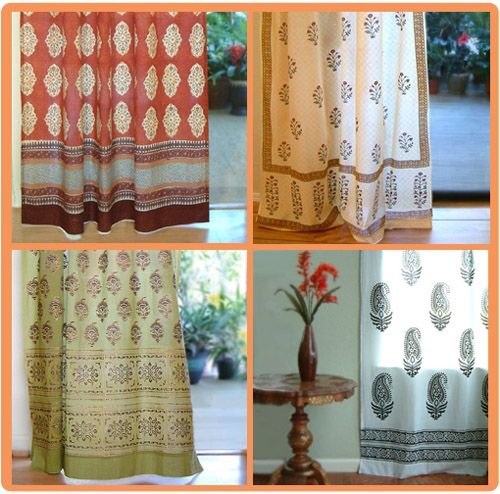 Indian curtains by www.saffronmarigold.com