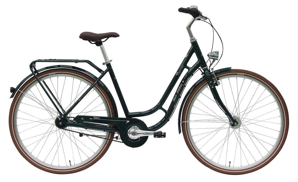 Radgröße 28 Zoll Rahmenform Touren Farbe grün Rahmen Aluminium 7005 ...
