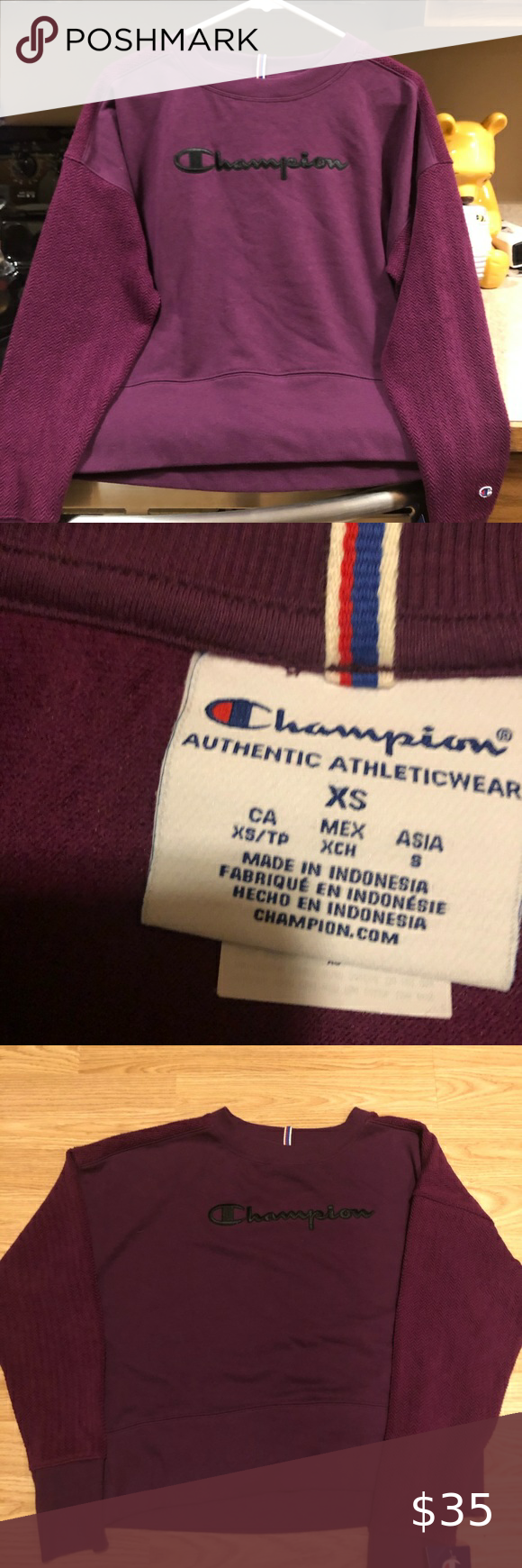 Sold Women S New Champion Sweatshirt Size Xs Champion Sweatshirt Sweatshirts New Champion [ 1740 x 580 Pixel ]