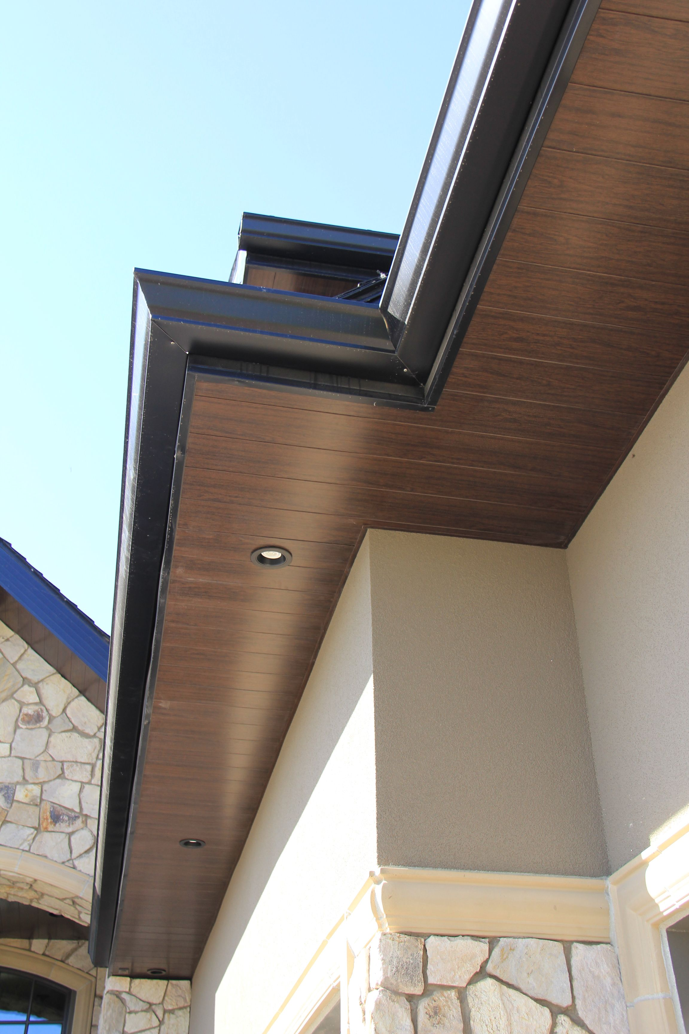 Sagiper Exterior Soffit In Espresso Redwood Available Exclusively From Gentek Wood Siding Exterior House Exterior Exterior House Colors
