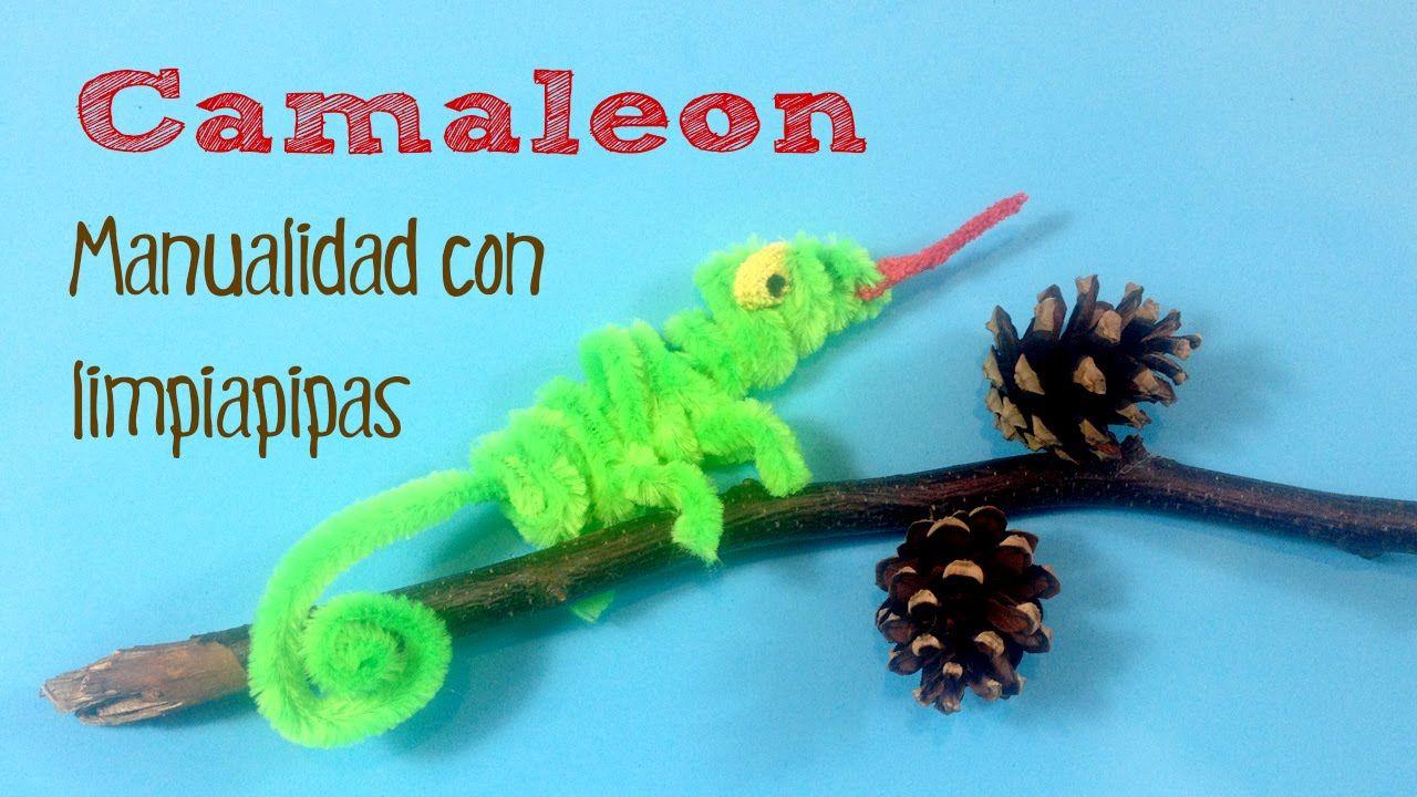 Manualidades infantiles: Camaleón con limpiapipas | limpiapipas ...