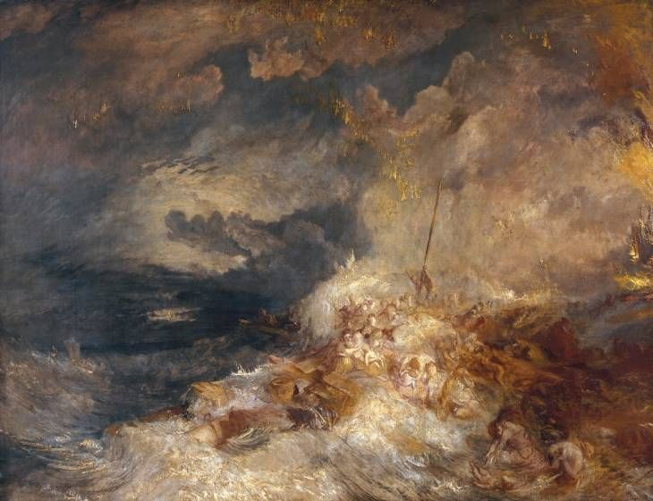 Joseph Mallord William Turner, 'A Disaster at Sea' ?c.1835