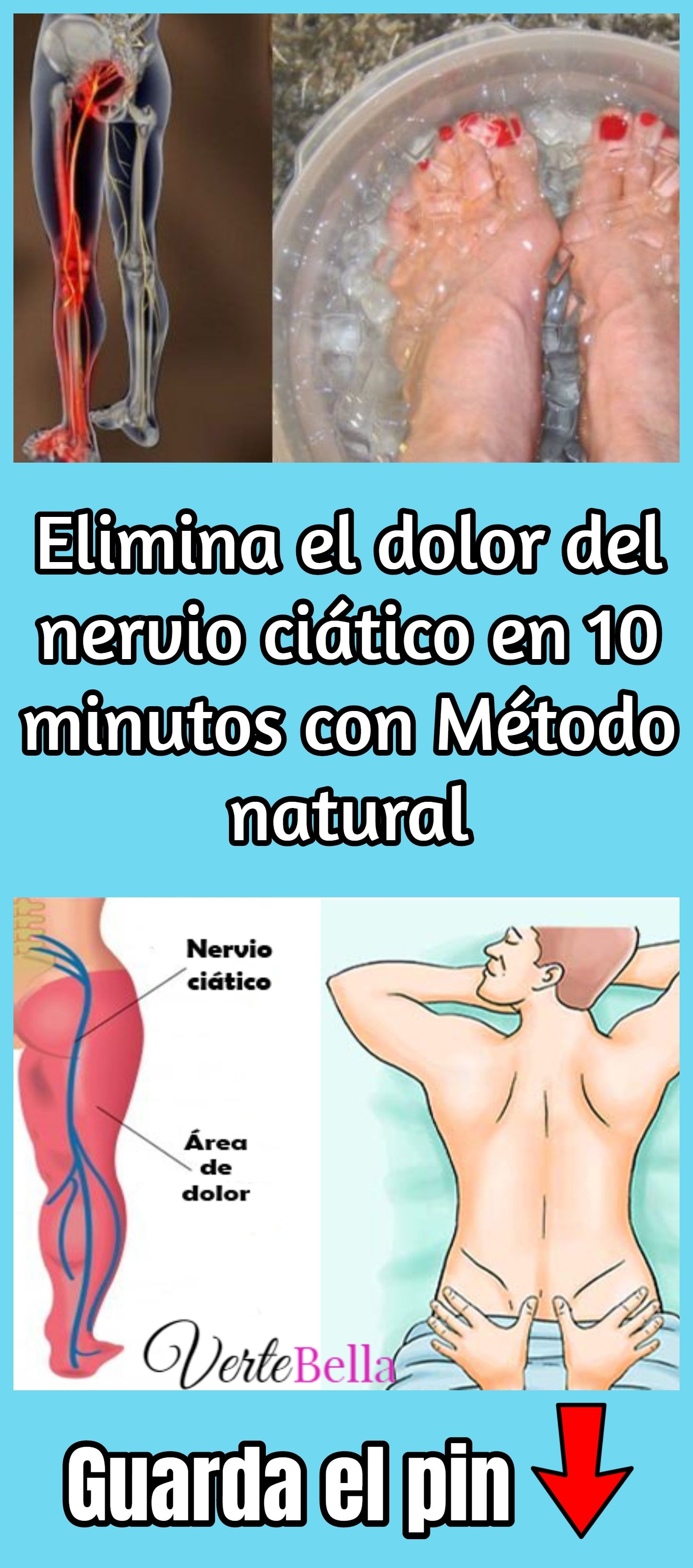 Desinflamar nervio ciatico forma natural