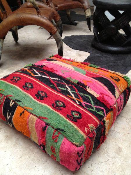 Vintage Kilim Pouf Cairo Sold Out Vintage Kilim Pouf Kilim