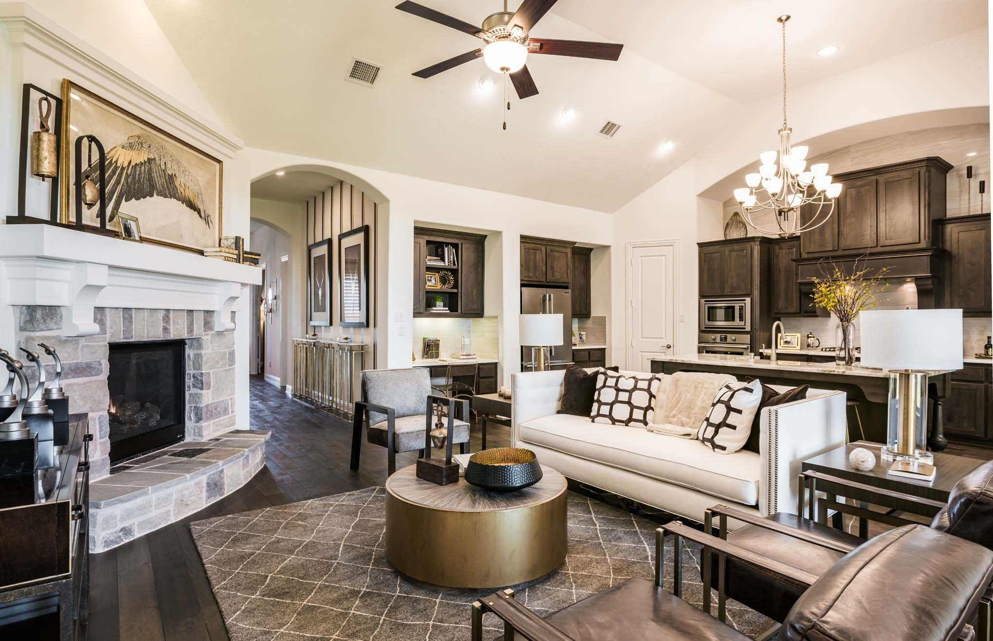 Family room in highland homes 262 plan at 1801 kyle court