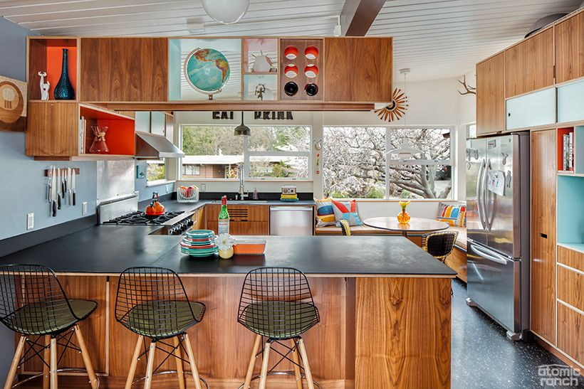 This Custom Midcentury Kitchen Design Was Made to Entertain
