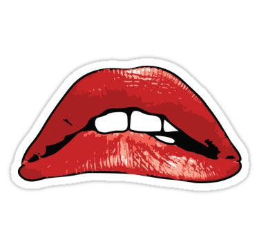 Rocky Horror Picture Show Red Lips Tim Currie Sticker Rocky