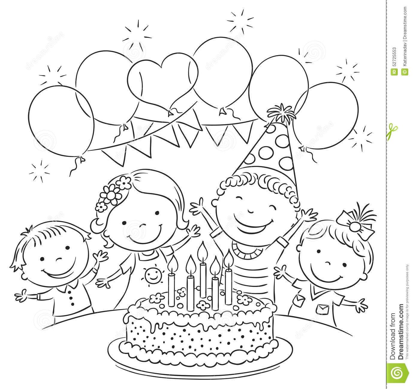 Kids Birthday Party Outline | Jesus coloring pages, Kids birthday party, Christmas gift coloring ...