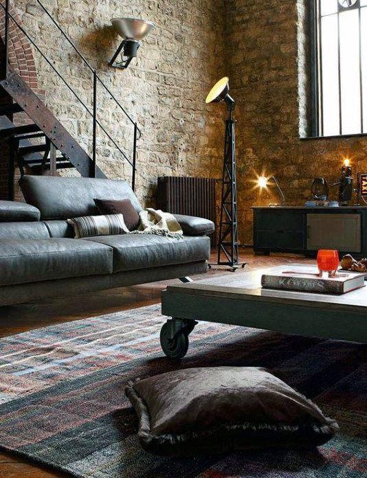 Living Room Bachelor Pad Design modern Pinterest Living