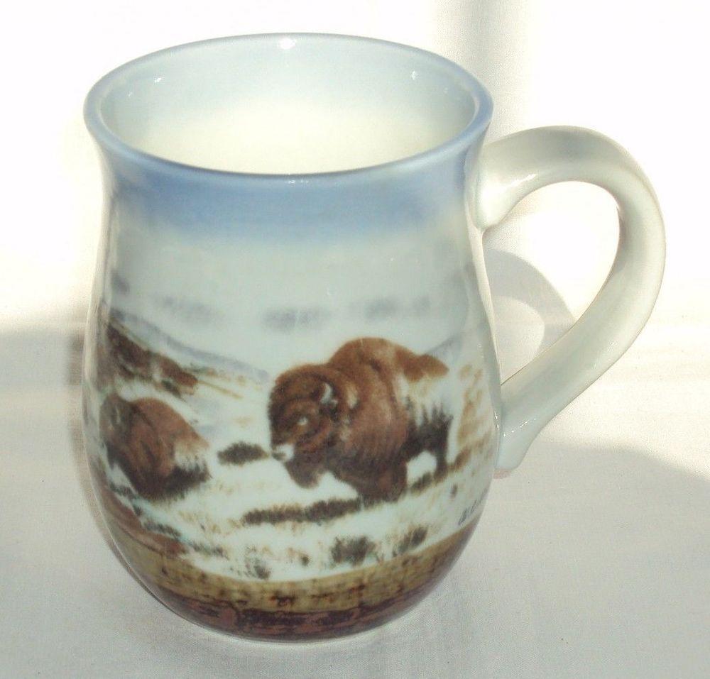 Vintage Otagiri Japan Buffalo Coffee Mug Cup Graphics By Artist Walt Cude Otagiri Mugs Coffee Mugs Mug Cup