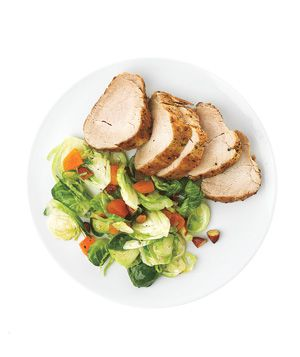 Roasted Pork With Shredded Brussels Sprouts