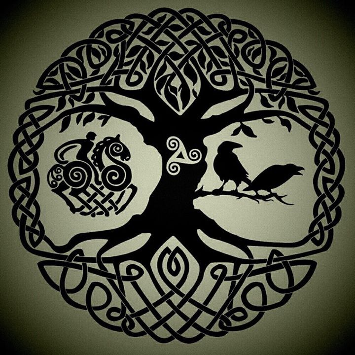 Photo of #Mythologie #Yggdrasil #Arbre de vie #Ravens #Odin #Nor