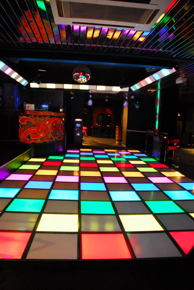 Abstract Avr Led Dancefloor In Jesters Nightclub Plymouth