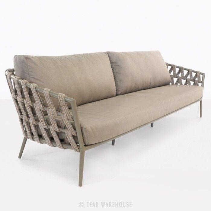 Wellington Rope Outdoor Sofa 4 Seater 0