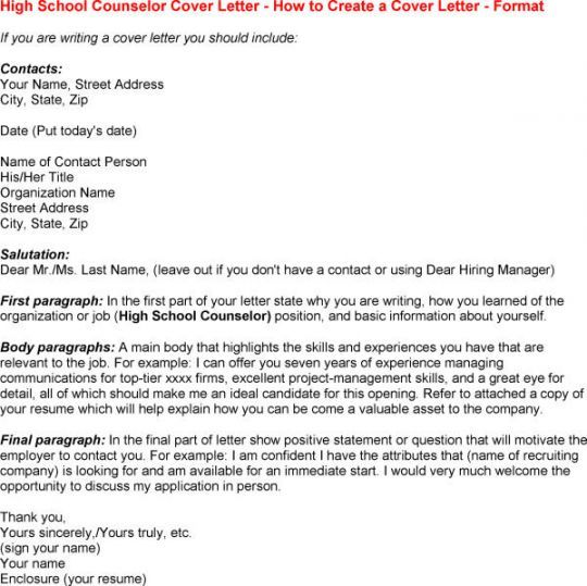 School Counselor Cover Letter  Resume Examples
