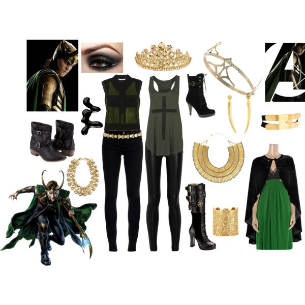 Marvel/'s The Avengers Loki Female dress Party prom cosplay costume free shipping