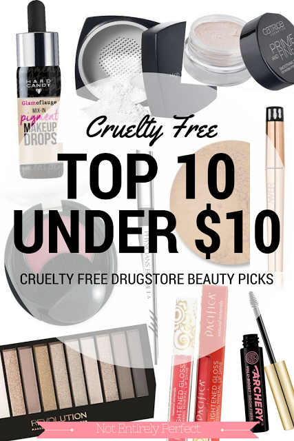 Top 10 Cruelty Free Picks Under 10 Beauty products