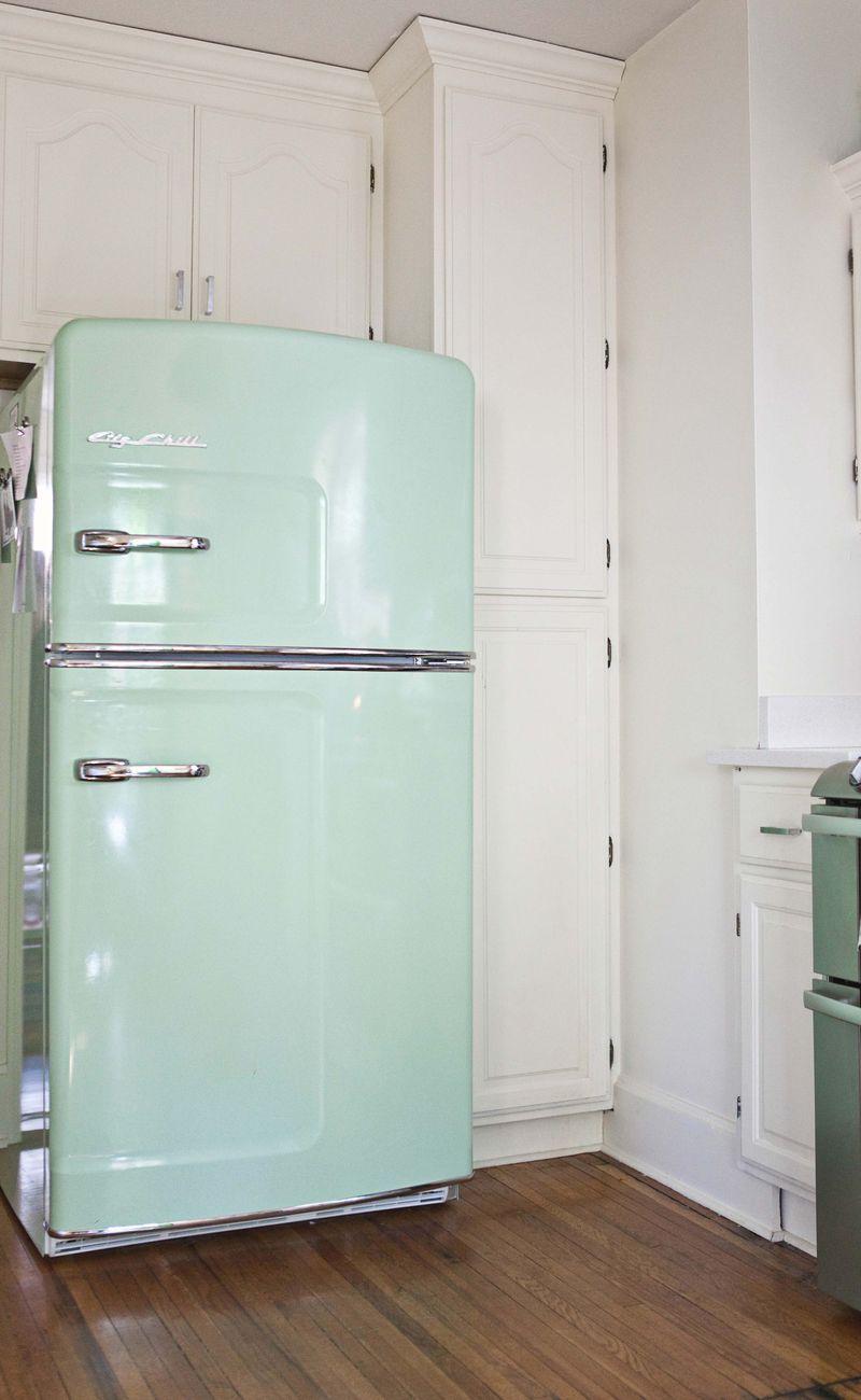Home Tour: Elsie\'s Kitchen | Pinterest | Big chill, Unfinished wood ...