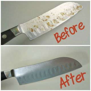 21 House Cleaning Tips - Remove rust from your metal knives.