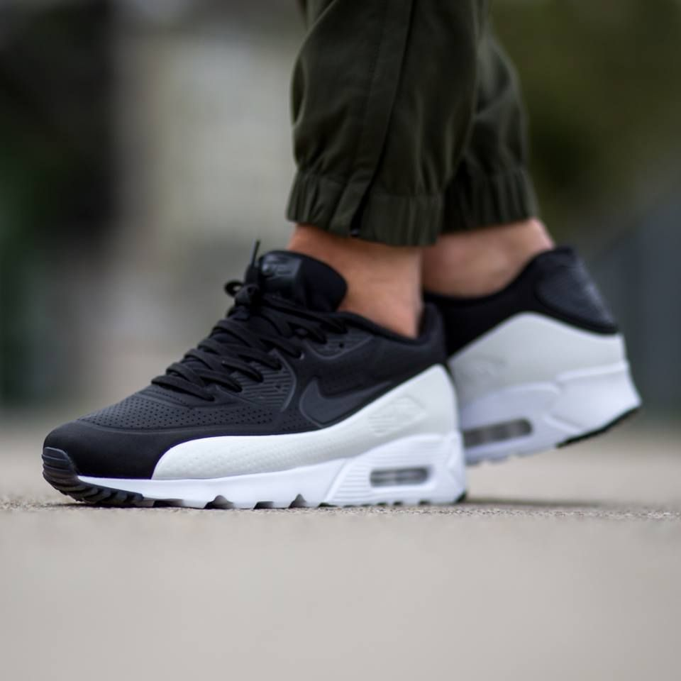 Nike Air Max 90 Ultra Moire Black White Mens Trainers Cheap