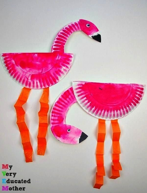 kids craft  paper plate flamingos A great kids craft  paper plate flamingos  A great kids craft  paper plate flamingos  This simple flamingo craft is a fun and easy summe...