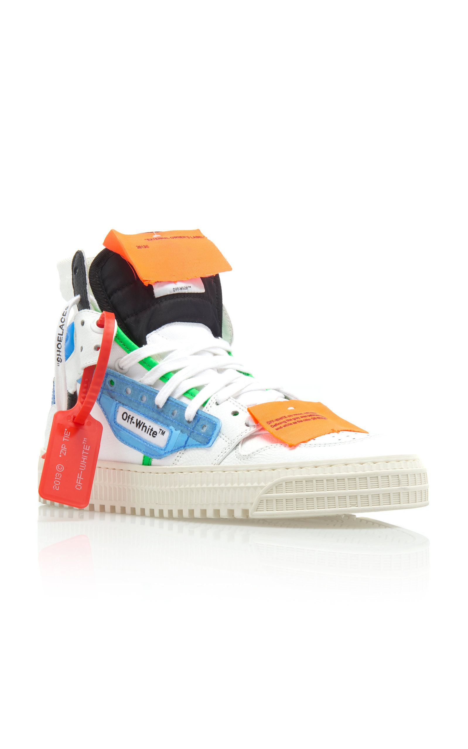 e15d85b63b Off-White c/o Virgil Abloh Off-Court PVC And Leather High-Top ...