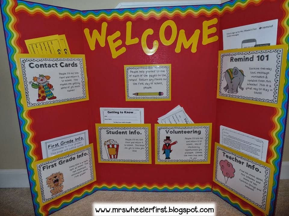 Great Idea For PTO School Open House Bulletin Board. Attention Grabbing And  Colorful.