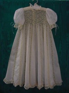 d489aad11 Chery Williams Pattern Ecru antique lace White Giger Swiss Batiste Baptism  Gown, Christening Gowns,