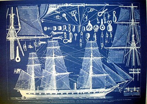 Vintage-Sailing-Ships-Rigging-Mast-Fittings-Blueprint-Plan-1880 - new blueprint app for windows