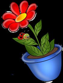 El Rincon De Mis Imagenes Maceta Con Flor Flores De Dibujos Animados Arte Con Flores Dibujos De Frutas