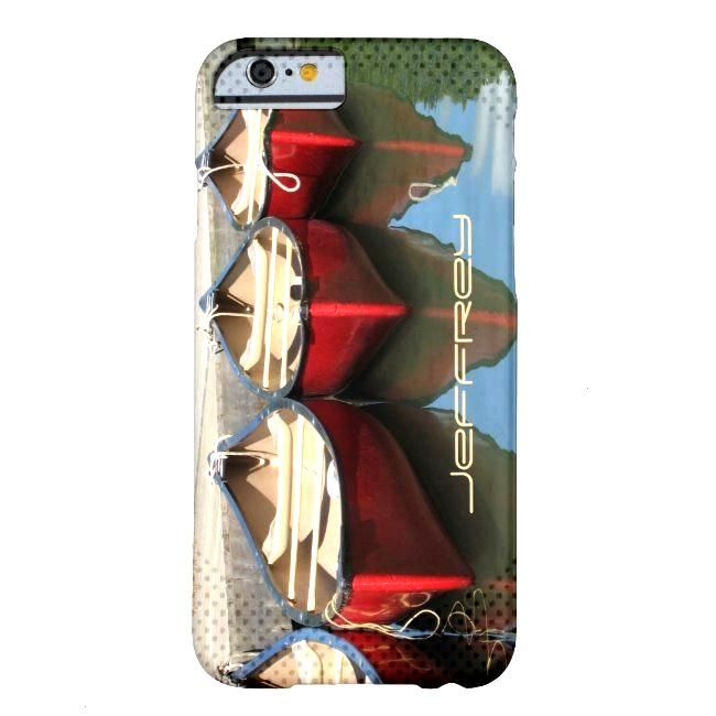 iPhone 6 Case Red Canoes amp Reflections