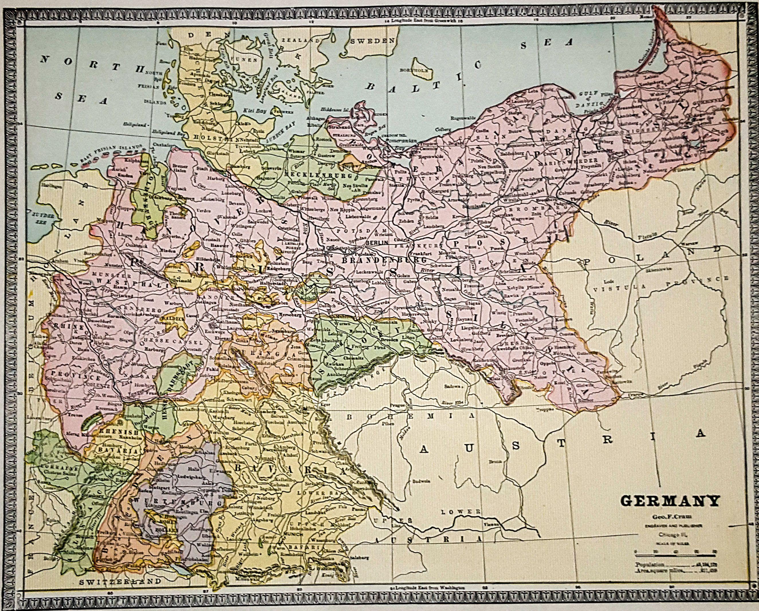map of the german empire in schlesien gallery