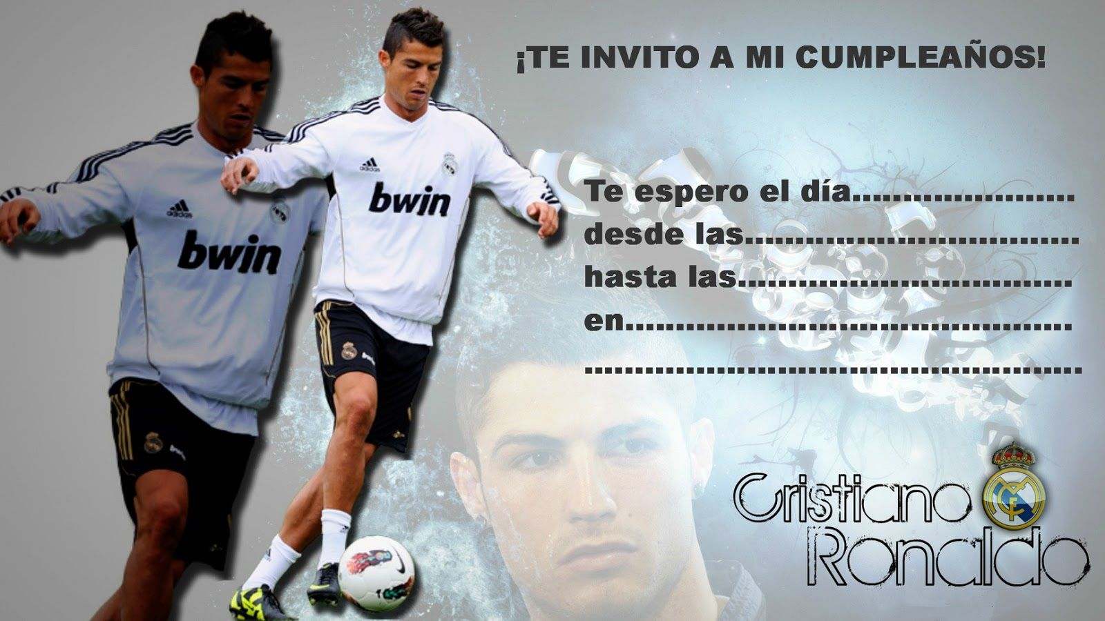 Invitaciones Para Cumpleaños De Cristiano Ronaldo