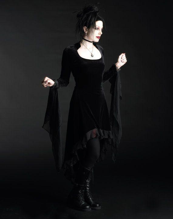 Handmade Gothic Harajuku Fashion W H Naoto Spiderweb Bag: Circee Romantic Gothic Vampire Dress Handmade Bespoke Size
