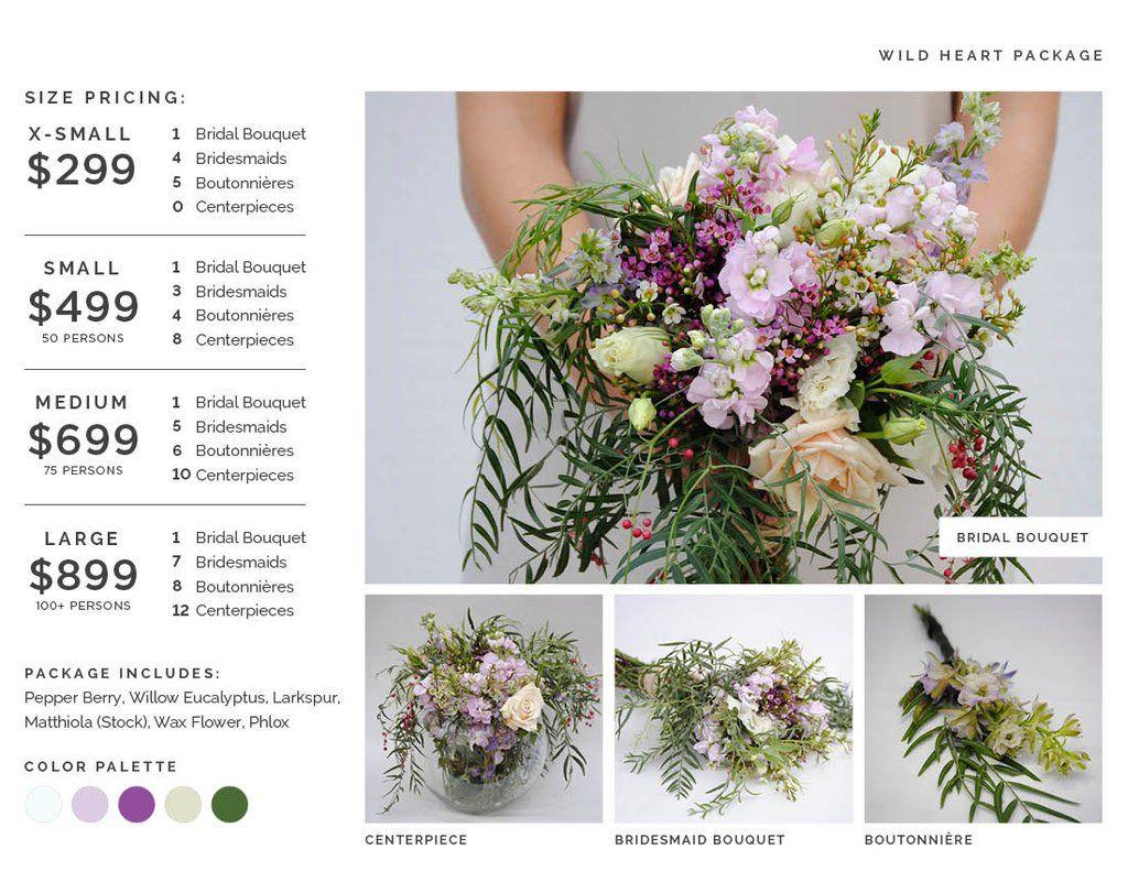 Wild Heart Flower Package Wedding Flower Packages Flower Packaging Diy Wedding Flowers