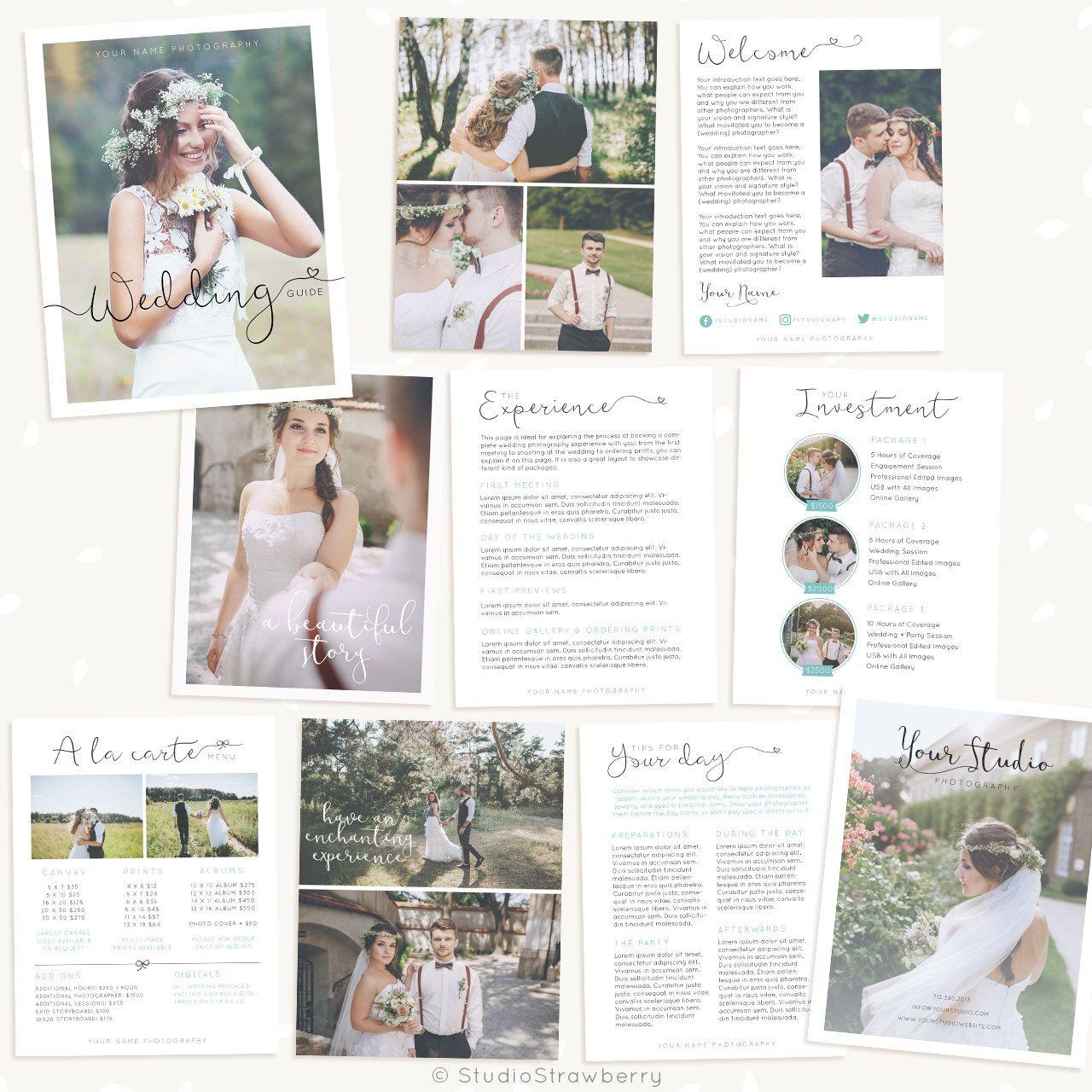Wedding Photography Magazine Template Wedding Brochure Welcome