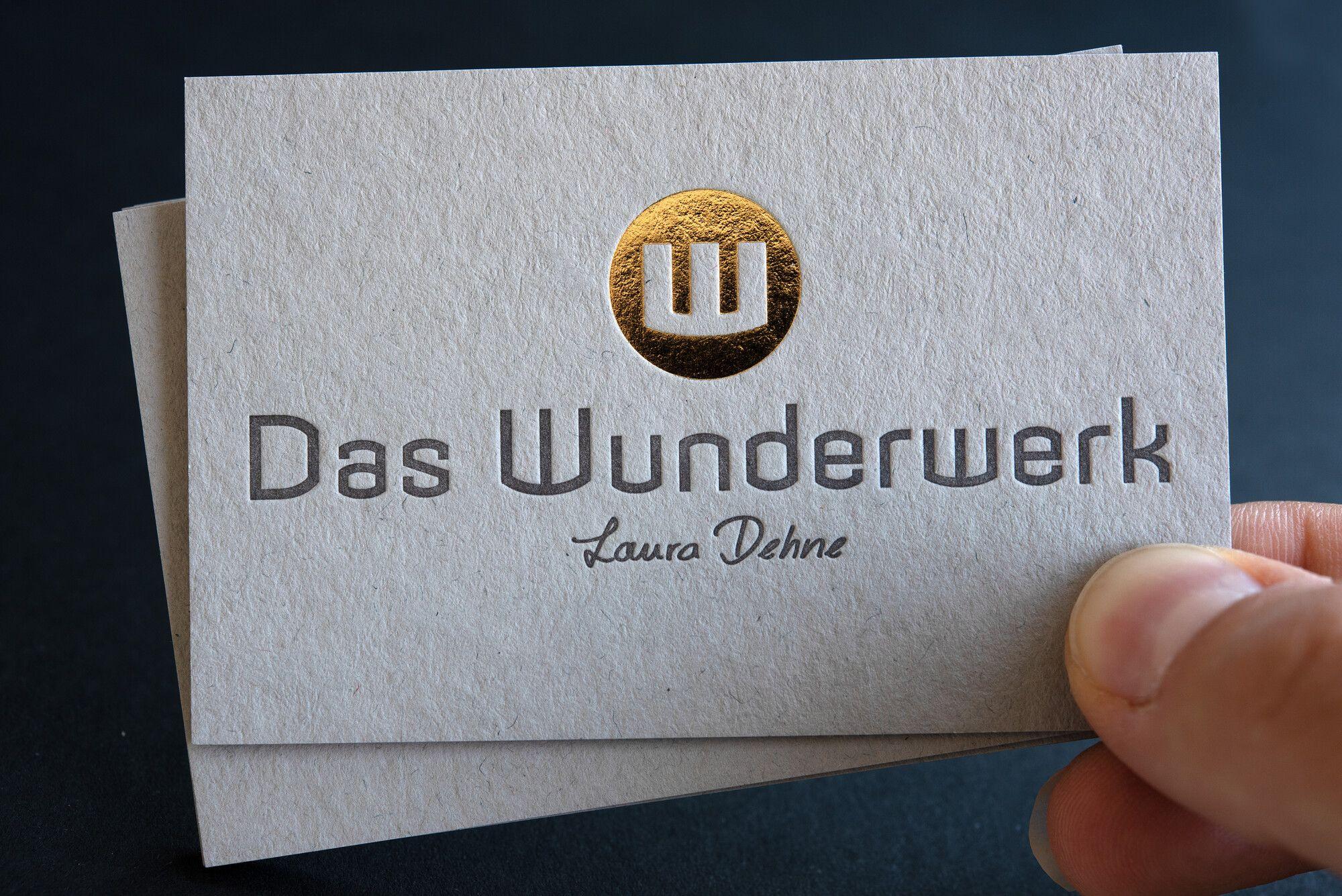 Drucktechnik Letterpress Und Heißfolienprägung Papier