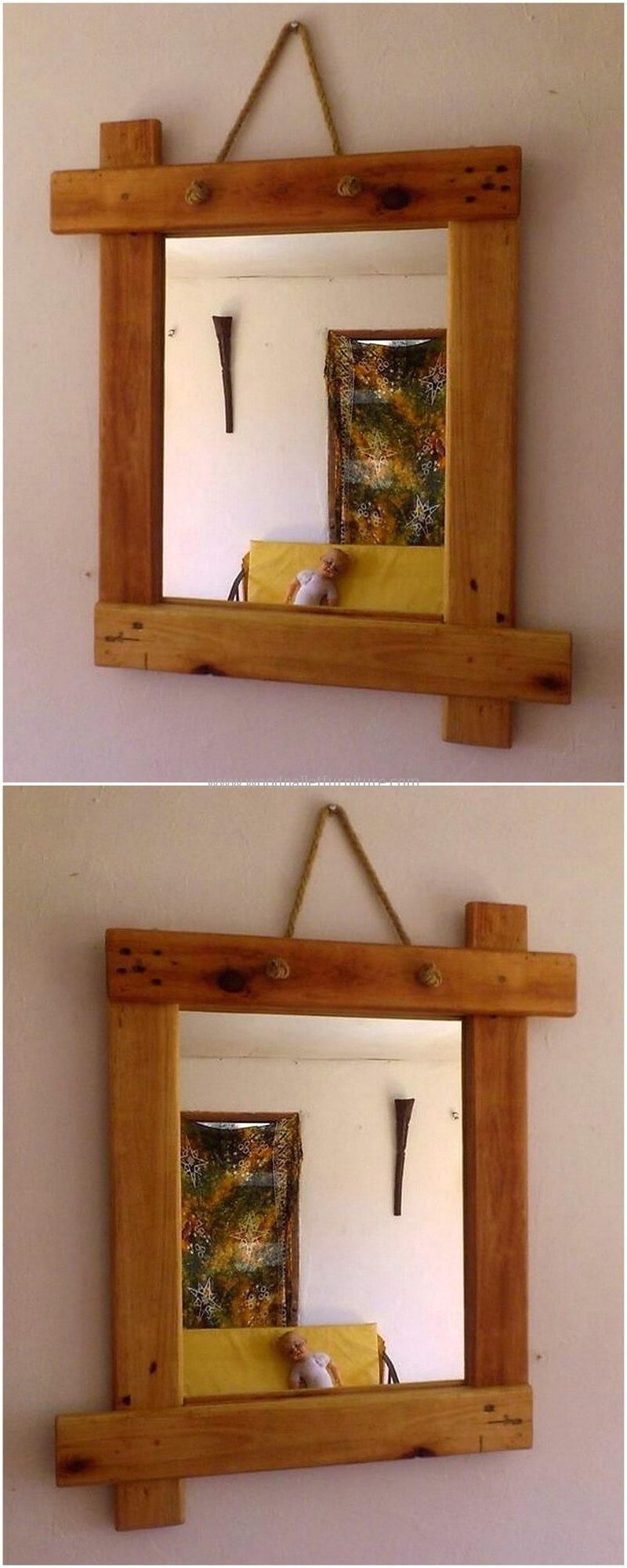 simple pallet mirror idea | dulgherie | Pinterest | Espejo, Madera y ...