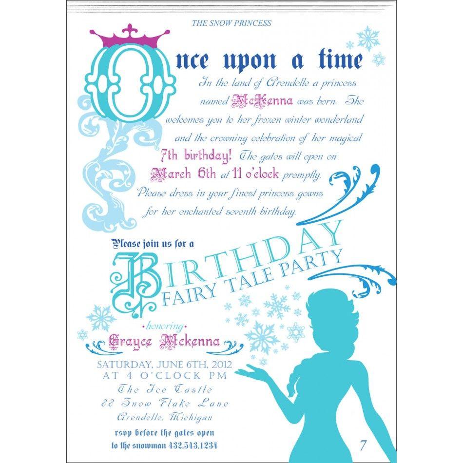 Frozen Tea Party Invitations   Arts - Arts