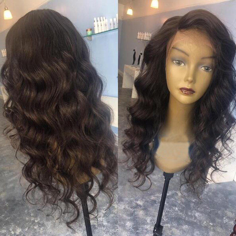 Body Wave Lace Front Wig Brazilian Hair 130 Density Natural Color 16 Inch Remy Human Hair Wigs Hair Hair Pieces