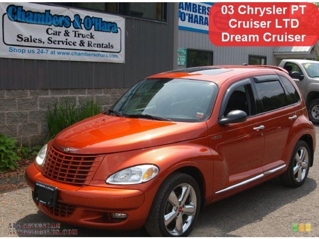 Tangerine pearl dark slate gray orange chrysler pt cruiser dream cruiser series 2