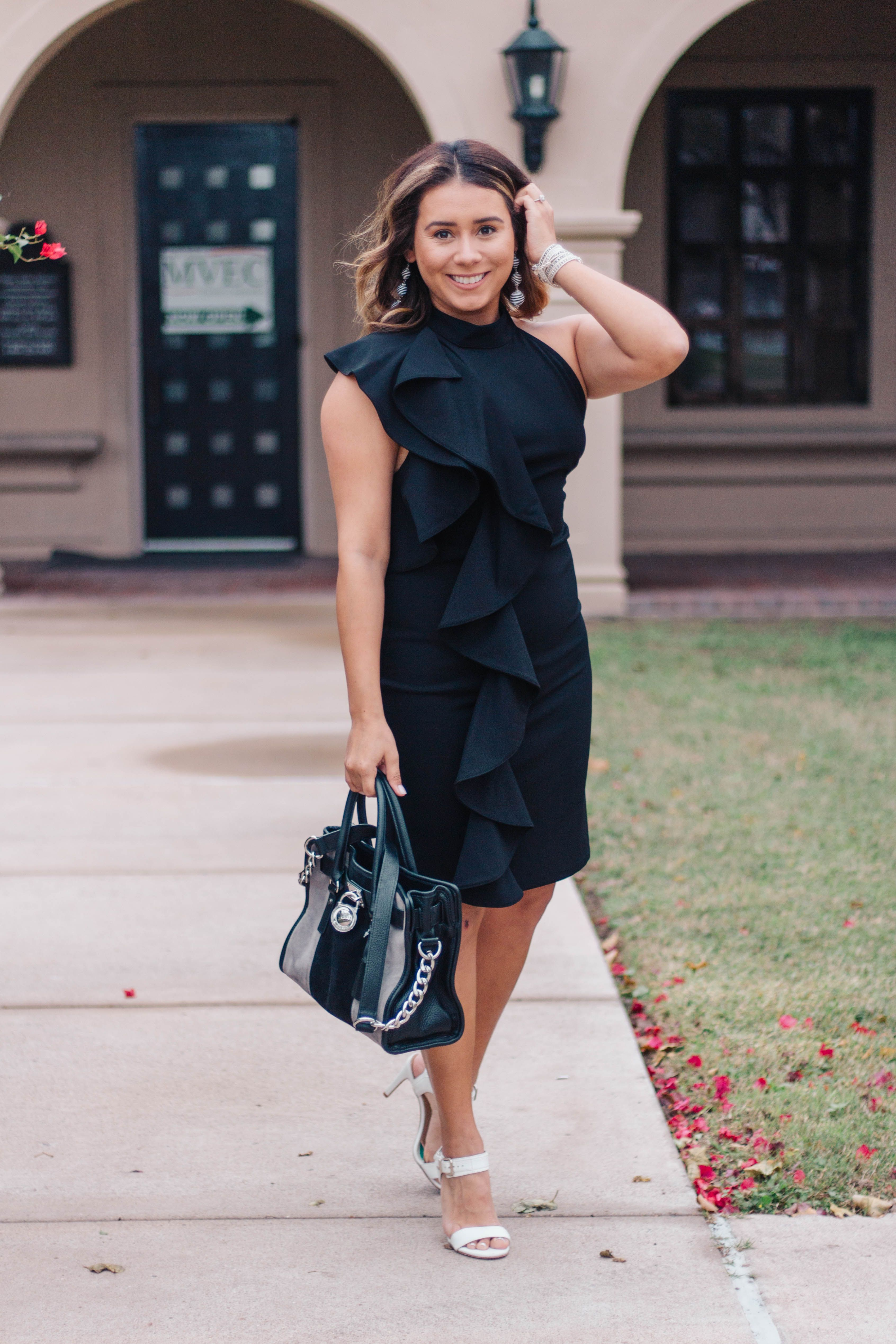 The little black ruffle dress changes u fashionubloggersuwe