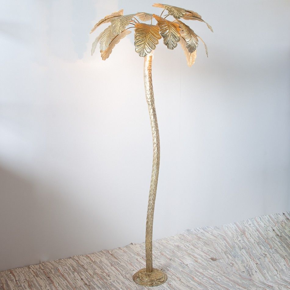Floor Lamp Palm Tree Large Gold Zenza Palm Tree Lights Tree Lighting Tree Floor Lamp