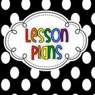 This file contains three binder covers in black and white with splashes of color, plus matching spines. The covers and spines include:Lesson Plans...