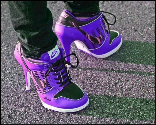 Nike heels in purple